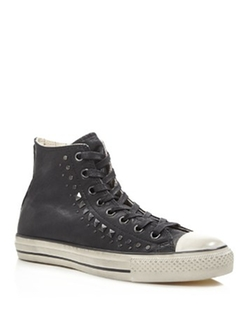 Converse - All Star Hi Top Studded Leather Sneakers
