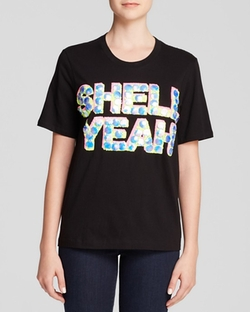 Markus Lupfer  - Shell Yeah Embroidered Alex T-Shirt