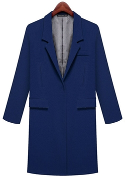 Six Kiss - Long Sleeve Lapel Coat