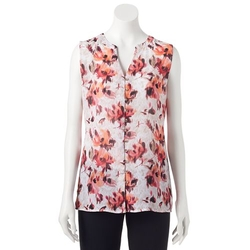 Croft & Barrow - Crinkle Chiffon Blouse