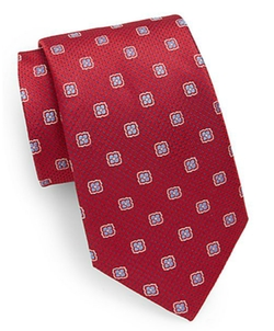 Saks Fifth Avenue - Neat Floral Silk Tie