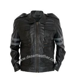 Desert Leather - Resident Evil 6 Leon Kennedy Black Leather Jacket