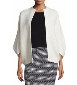 Lela Rose - Open-Front Cape-Style Jacket