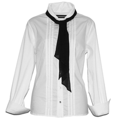 Great White Shirts - Voile Ascot Pleat Shirt