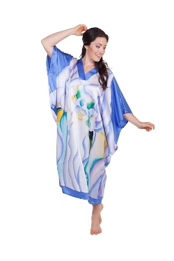 Texeresilk - Pure Silk Kimono Nightshirt