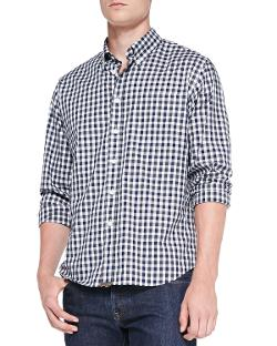 Billy Reid  - Tuscumbia Gingham Button-Down Shir