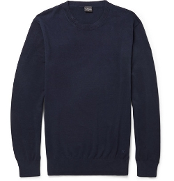 PS by Paul Smith - Contrast-Tipping Cotton Crew Neck Sweater