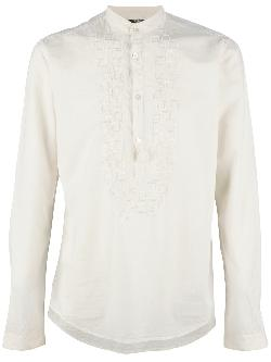 DANIELE ALESSANDRINI  - embroidered shirt