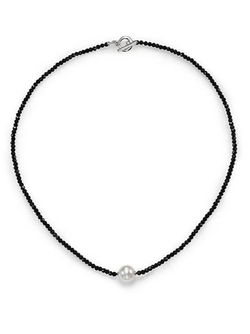Majorica - White Pearl, Crystal & Sterling Silver Beaded Necklace