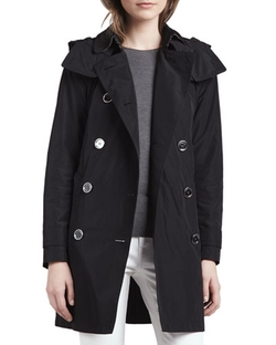 "Burberry Brit  - ""Balmoral"" Trenchcoat with Removable Hood"