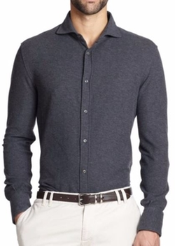 Brunello Cucinelli  - Pique Polo Shirt