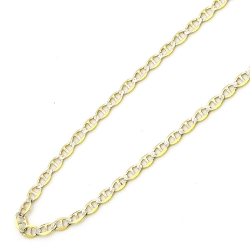 Double Accent - Italian Mariner Link Chain Necklace