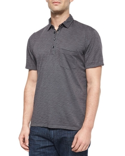 7 For All Mankind - Raw-Edge Short-Sleeve Polo Shirt