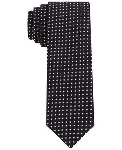 Calvin Klein - Printed Dot Skinny Tie