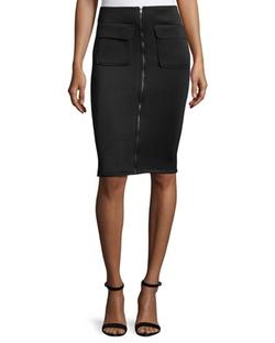 Romeo & Juliet Couture   - Scuba Zip-Front Pencil Skirt