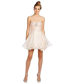 B. Darlin  - Strapless Embellished Bust Party Dress