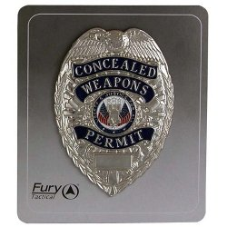 Fury Tactical  - Shield Concealed Weapons Permit Badge