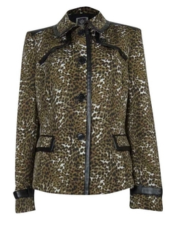 Anne Klein - Animal Print Natural Selection Blazer