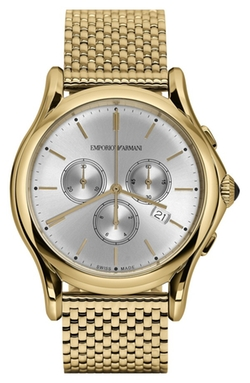 Emporio Armani Swiss Made - Chronograph Mesh Strap Watch