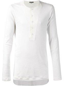 Ann Demeulemeester  - Ribbed Henley T-shirt