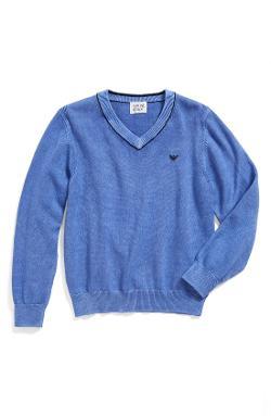 Armani Junior - Cotton V-Neck Sweater