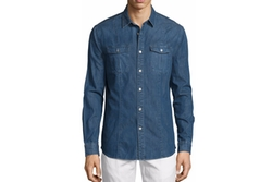 John Varvatos Star USA  - Long-Sleeve Denim Shirt