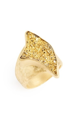 Heather Benjamin - Gold Drusy Ring