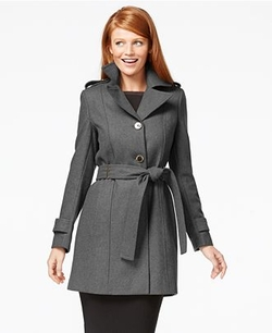 Calvin Klein - Three-Button Belted Wool Trench Coat