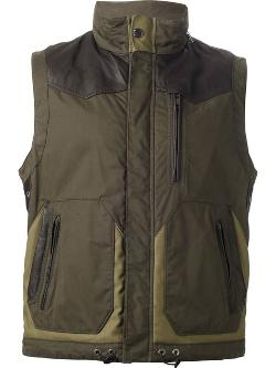Henry Cotton´s - Sleeveless Bi-colour Jacket