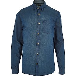 River Island - Denim Long Sleeve Shirt