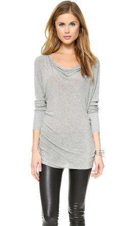 AIR by alice + olivia  - Boat Neck Slouchy Tee