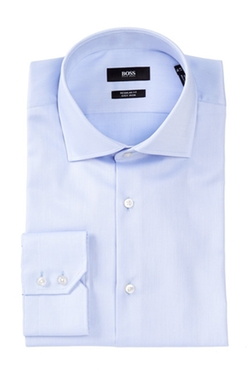 Hugo Boss - Gerald Long Sleeve Regular Fit Solid Dress Shirt