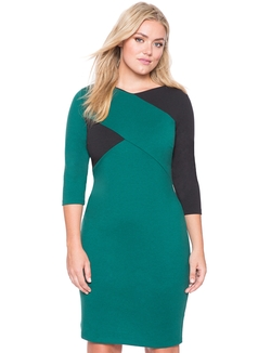 Eloquii - Cross Colorblock Dress