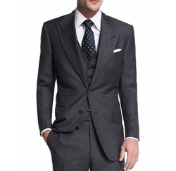 Tom Ford - Windsor Base Sharkskin Three-Piece Suit