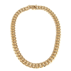 Caribe Gold - Sterling Essentials 14k Gold Over Bronze Cuban Link Necklace