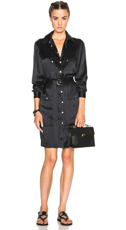 Kenzo - Sandwashed Silk Belted Shirt Dress
