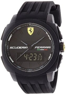 Ferrari - Aerodinamico Black Rubber Watch