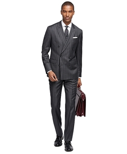 Brooks Brothers - Milano Fit Wide Stripe 1818 Suit