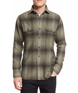 Tom Ford - Exploded Plaid Flannel Sport Shirt