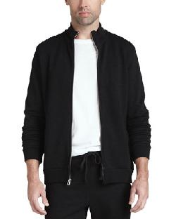 Velvet  - Full-Zip Fleece Jacket, Black