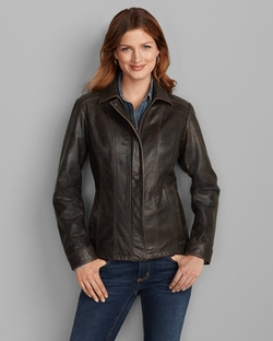 Eddie Bauer - Leather Stine Jacket