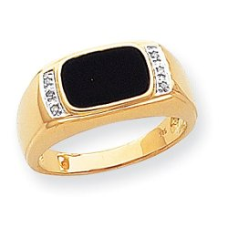 Gem Affair - Diamond & Onyx Ring