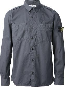 Stone Island  - Military Style Shirt