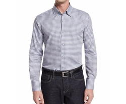Neiman Marcus  - Plaid-Check Long-Sleeve Sport Shirt