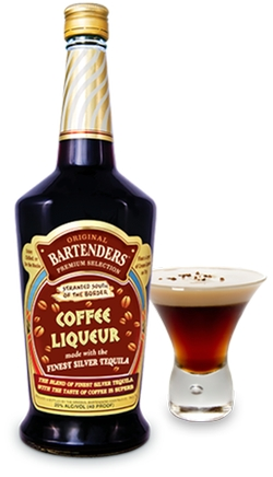 Original Bartenders Cocktails - Coffee Liqueur with Silver Tequila