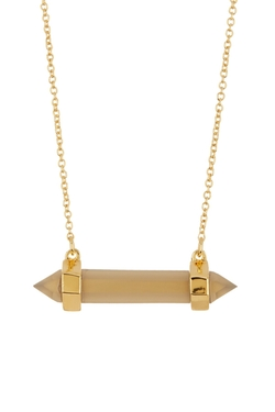 Louise Et Cie Jewelry  - Statement Stones Bar Pendant Necklace