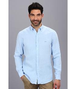 Lacoste - Button Down Linen Woven Shirt