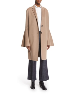 Derek Lam  - Wool-Blend Bell-Sleeve Coat