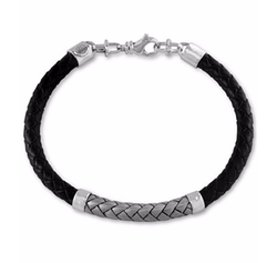Effy Collection  - Woven Bracelet In Leather