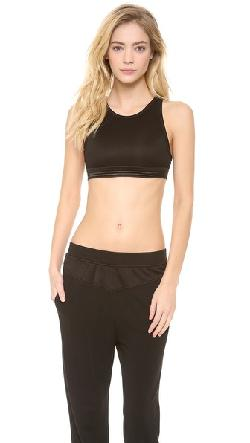 T by Alexander Wang  - Triblend Jersey Sports Bra